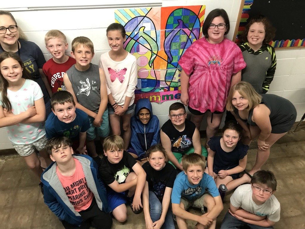 Miss Kron's class Summer Fun Math project