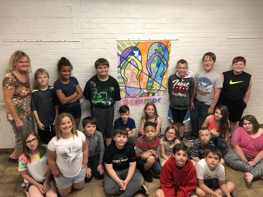 Mrs. Woods's class Summer Fun Math project