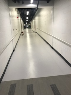 NEW FLOORING IN THE HALLWAYS