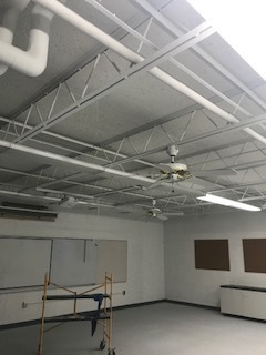 Newly painted, bright white ceilings!