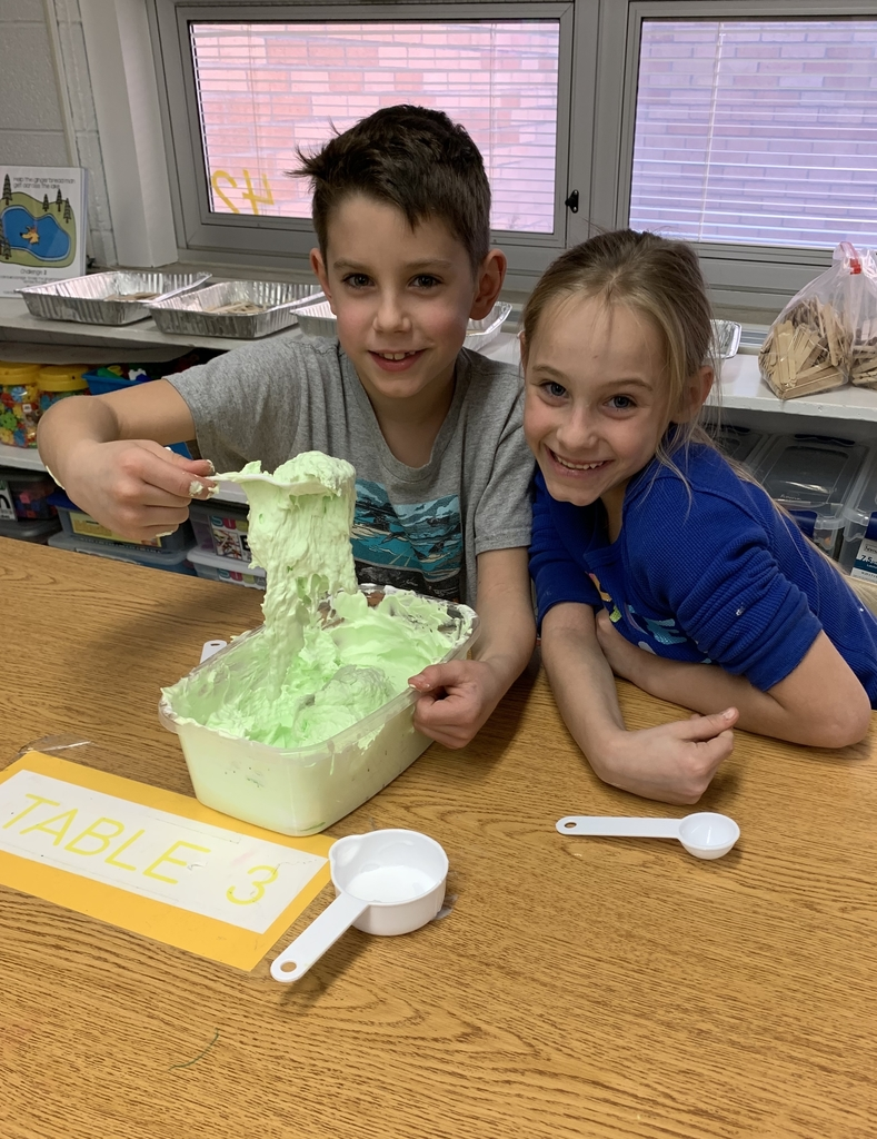 We learned that slime is a non-Newtonian fluid!